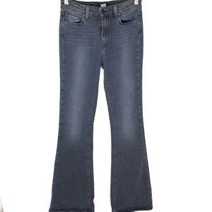 Paige High Rise Bell Canyon Reed Black Jeans 28